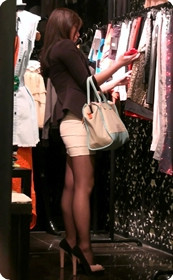 黑丝短裙,紧身包臀美女