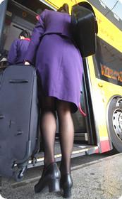 空姐职业装性感黑丝